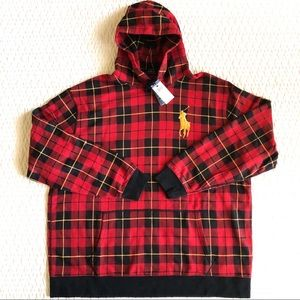 NWT Big and Tall Polo Ralph Lauren Flannel Hoodie